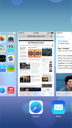 iOS 7 Task Switching